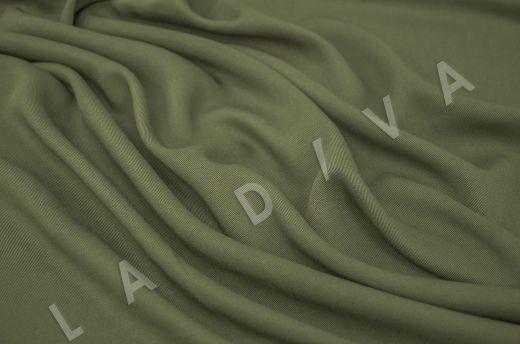 костюмная вискоза твилового плетения зеленого цвета рис-2