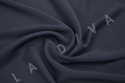 костюмная вискоза твилового плетения темно-синего цвета