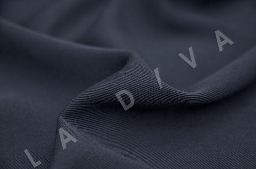 костюмная вискоза твилового плетения темно-синего цвета рис-3