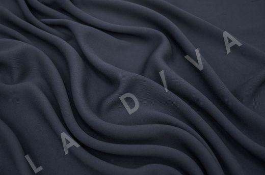 костюмная вискоза твилового плетения темно-синего цвета рис-2