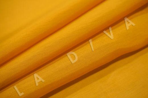 Батист шелковый оранжевого цвета  рис-4