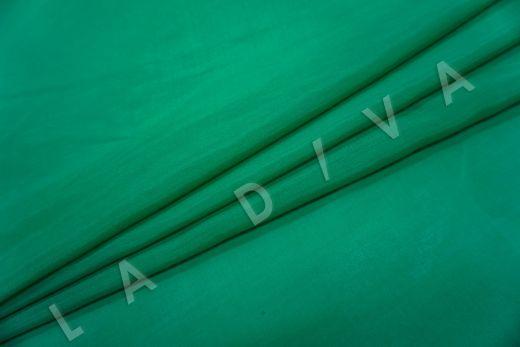 Батист шелковый изумрудного цвета  рис-2
