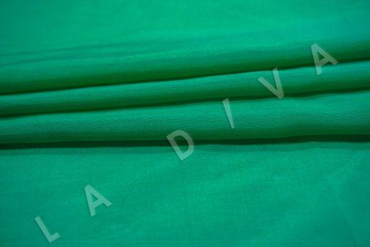 Батист шелковый изумрудного цвета  рис-3