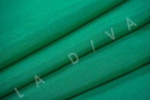 Батист шелковый изумрудного цвета  рис-4