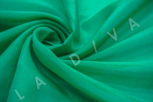 Батист шелковый изумрудного цвета