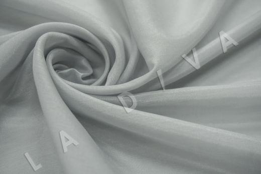 Батист шелковый серого цвета