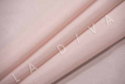 Батист шелковый пудрового цвета  рис-4