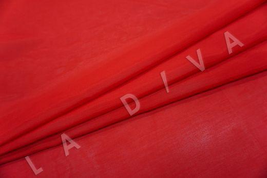 Батист шелковый красного цвета  рис-2