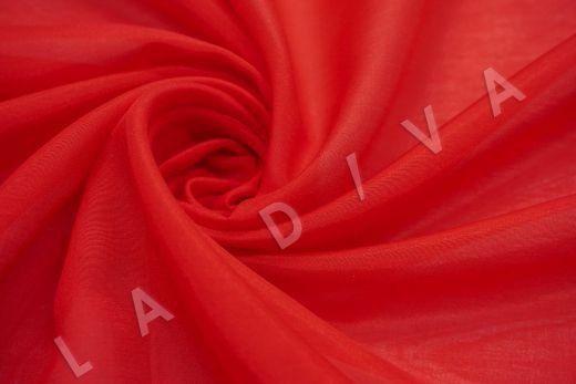 Батист шелковый красного цвета 5