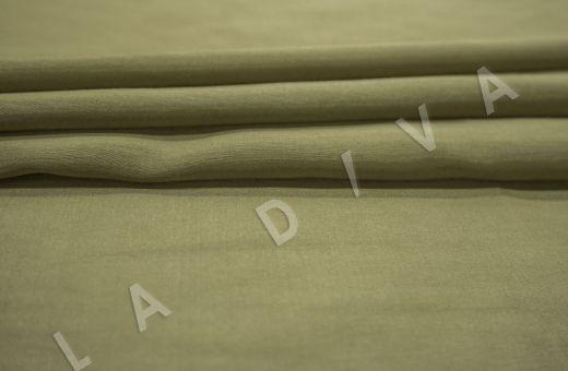 Батист шелковый цвет хаки  рис-3