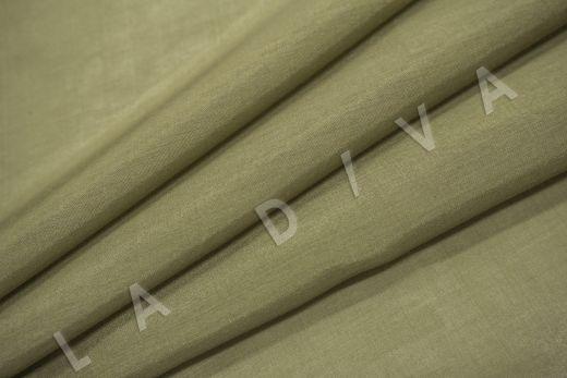 Батист шелковый цвет хаки  рис-4
