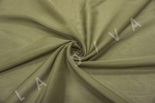 Батист шелковый цвет хаки 5