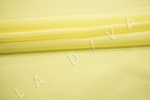 Батист шелковый лимонного цвета рис-3