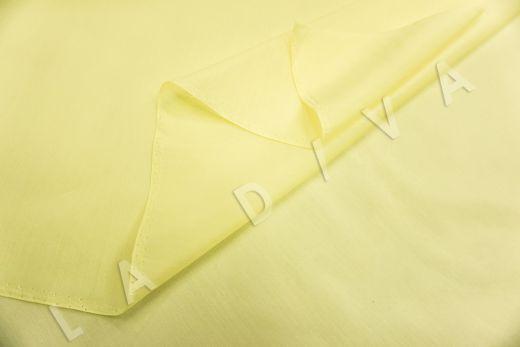 Батист шелковый лимонного цвета