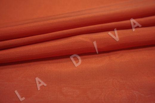 Батист шелковый кораллового цвета  рис-3