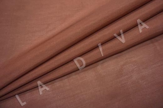 Батист шелковый терракотового цвета  рис-2