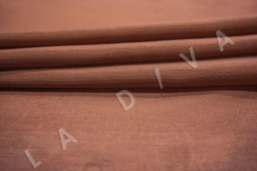 Батист шелковый терракотового цвета  рис-3