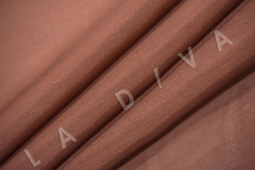 Батист шелковый терракотового цвета  рис-4