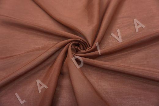 Батист шелковый терракотового цвета 5