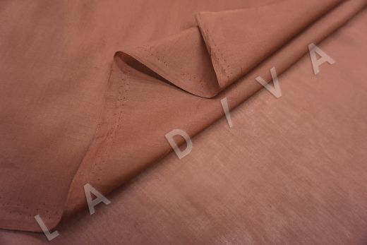Батист шелковый терракотового цвета 6