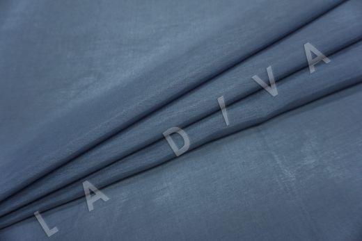 Батист шелковый синего цвета  рис-2