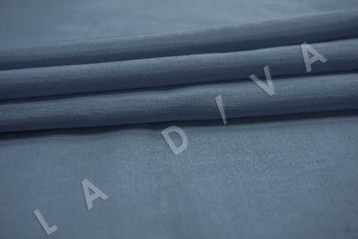 Батист шелковый синего цвета  рис-3