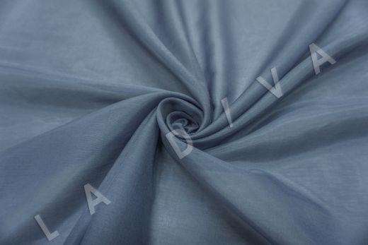 Батист шелковый синего цвета 5