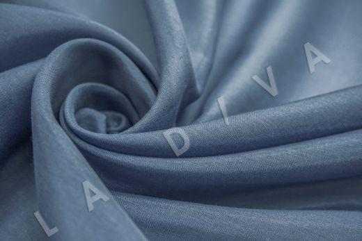 Батист шелковый синего цвета