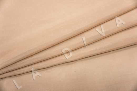 Батист шелковый бежевого цвета  рис-2