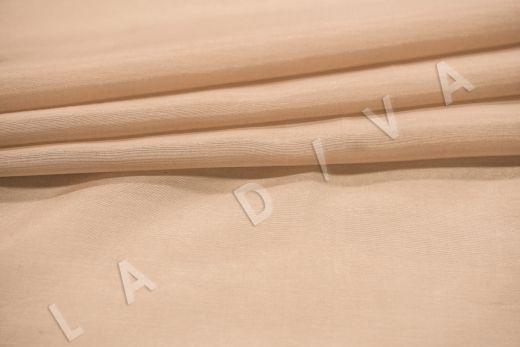 Батист шелковый бежевого цвета  рис-3