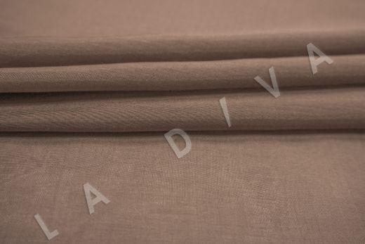Батист шелковый коричневого цвета  рис-3