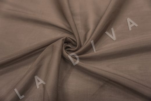Батист шелковый коричневого цвета