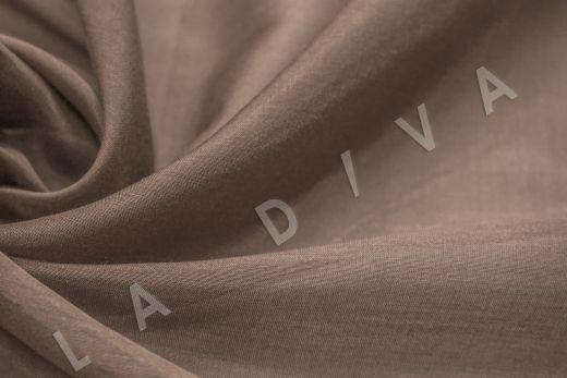 Батист шелковый коричневого цвета 5