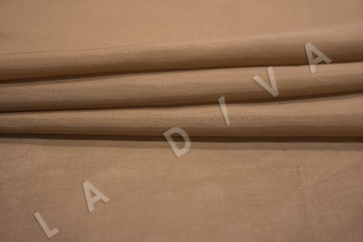 Батист шелковый кофейного цвета рис-3