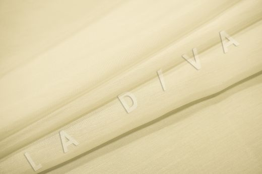 Батист шелковый молочного цвета  рис-4