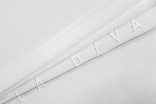 Батист шелковый белого цвета