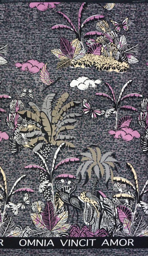 шелковый батист по мотивам Dior на фиолетовом фоне рис-5