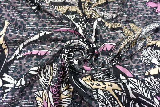 шелковый батист по мотивам Dior на фиолетовом фоне рис-4