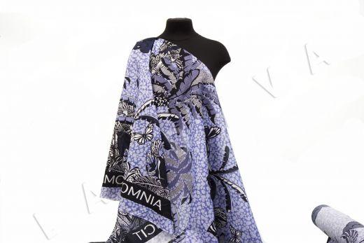 шелковый батист по мотивам Dior на светло-фиолетовом фоне рис-4