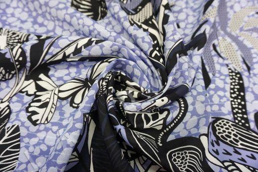 шелковый батист по мотивам Dior на светло-фиолетовом фоне рис-6