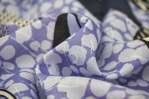 шелковый батист по мотивам Dior на светло-фиолетовом фоне рис-5