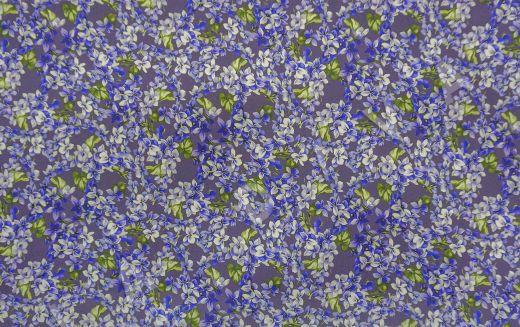 Шелк с эластаном с цветочным принтом рис-2