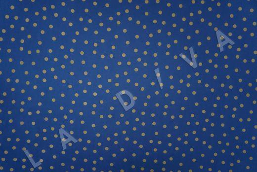 вискоза кади в горох на синем фоне рис-2