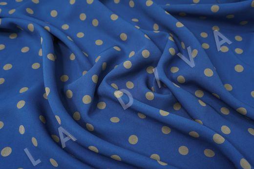 вискоза кади в горох на синем фоне рис-3