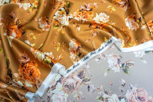 атласный шелк «Розы» на терракотовом фоне рис-7