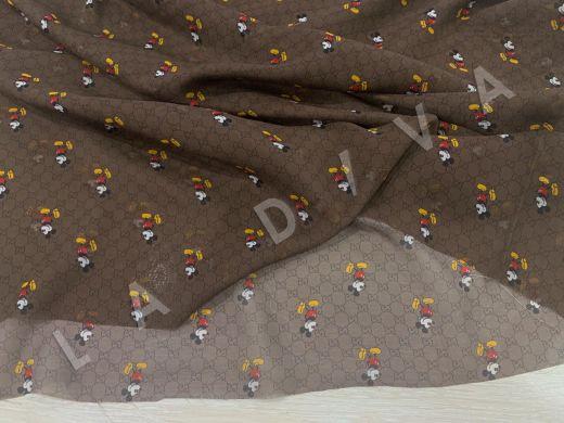 шифон Gucci с микки-маусами шоколадного цвета рис-4
