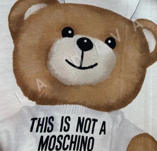 трикотажное полотно Moschino на белом фоне рис-4