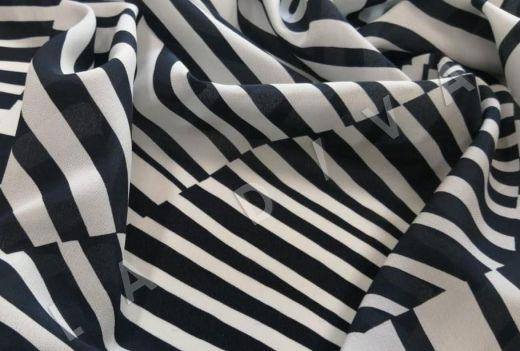 шелк с абстрактным рисунком рис-2