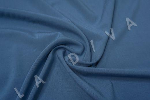 Вискоза с эластаном однотонная синего цвета