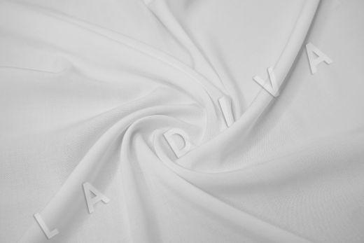 Вискоза с эластаном однотонная белого цвета